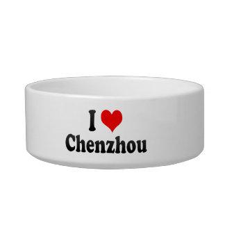 I Love Chenzhou, China Cat Water Bowls