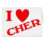 I Love Cher Card