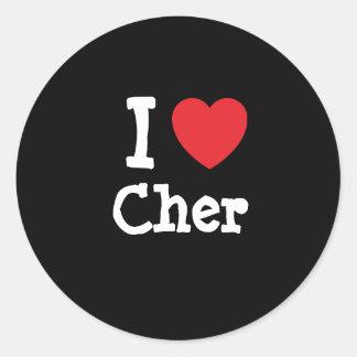 I love Cher heart T-Shirt Round Stickers