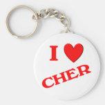 I Love Cher Keychains