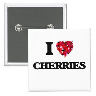 I love Cherries 2 Inch Square Button