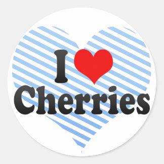 I Love Cherries Classic Round Sticker