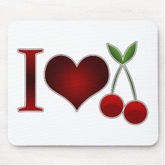 I Love Cherries Mouse Pad