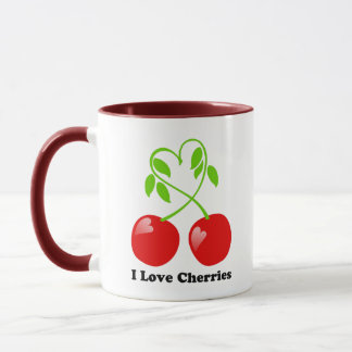 I Love Cherries Mug