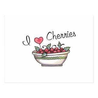 I LOVE CHERRIES POSTCARD