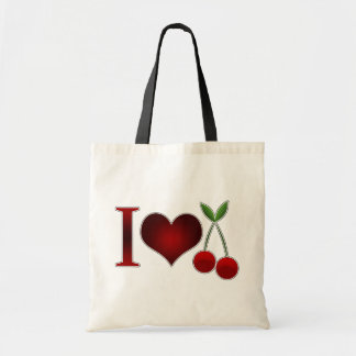 I Love Cherries Tote Bag