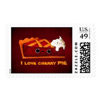 I love Cherry Pie Postage Stamp