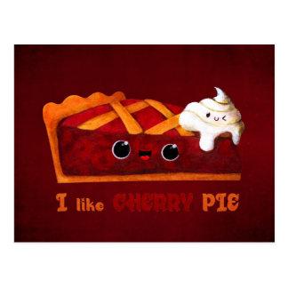 I love Cherry Pie Postcard