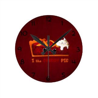 I love Cherry Pie Round Clock