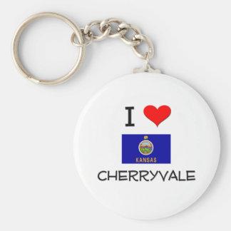 I Love CHERRYVALE Kansas Keychain