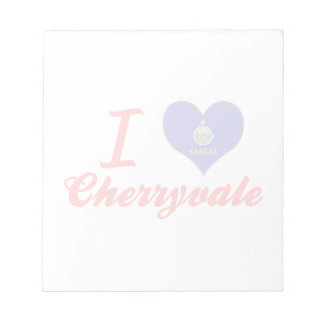 I Love Cherryvale, Kansas Memo Pad