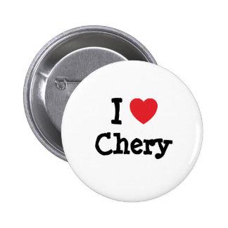 I love Chery heart T-Shirt Button