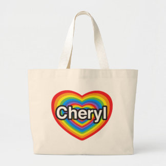 I love Cheryl. I love you Cheryl. Heart Large Tote Bag