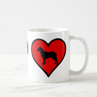 I Love Chesapeake Bay Retriever Silhouette Heart Coffee Mug