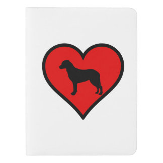 I Love Chesapeake Bay Retriever Silhouette Heart Extra Large Moleskine Notebook