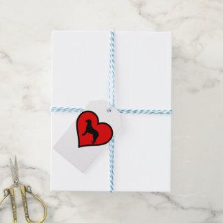 I Love Chesapeake Bay Retriever Silhouette Heart Gift Tags