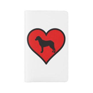 I Love Chesapeake Bay Retriever Silhouette Heart Large Moleskine Notebook