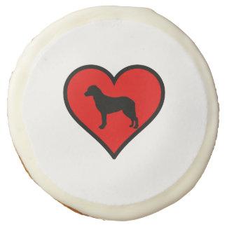 I Love Chesapeake Bay Retriever Silhouette Heart Sugar Cookie