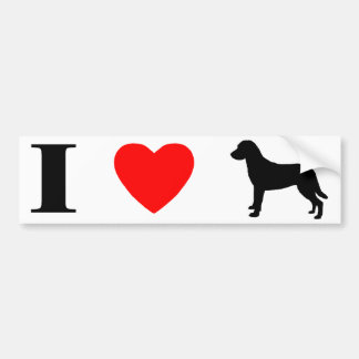 I Love Chesapeake Bay Retrievers Bumper Sticker