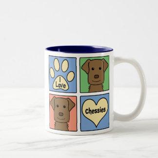 I Love Chesapeake Bay Retrievers Two-Tone Coffee Mug