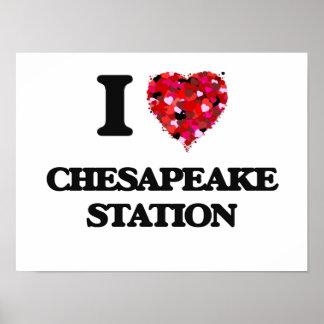 I love Chesapeake Station Maryland Poster