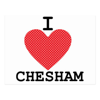 I love Chesham Postcard