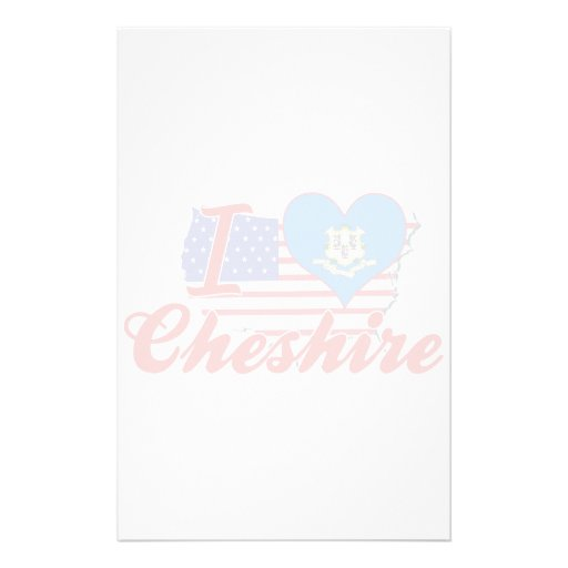 I Love Cheshire, Connecticut Custom Stationery