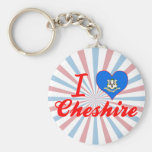 I Love Cheshire, Connecticut Key Chains