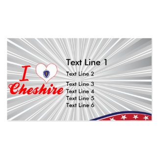 I Love Cheshire, Massachusetts Double-Sided Standard Business Cards (Pack Of 100)