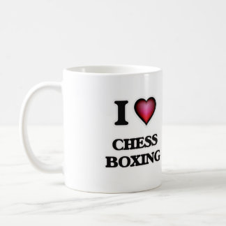 I Love Chess Boxing Coffee Mug
