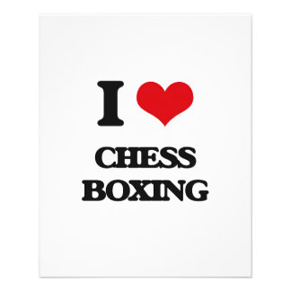 I Love Chess Boxing Flyers