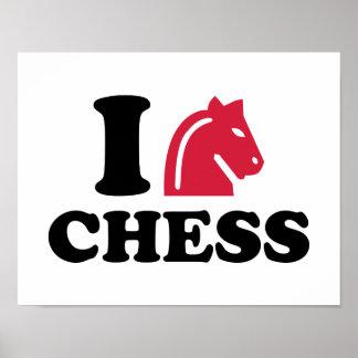 I love Chess horse Print
