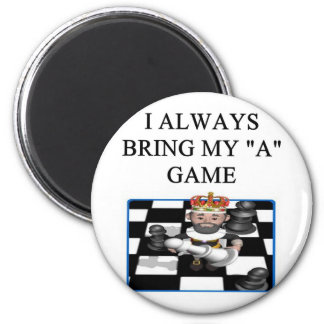 i love chess player 2 inch round magnet