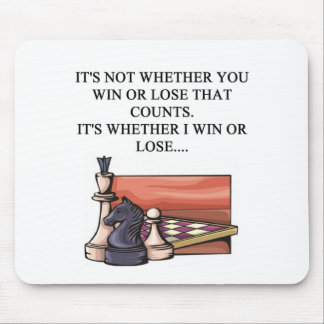 i love chess player mouse pad