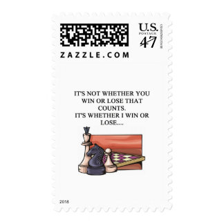 i love chess player postage