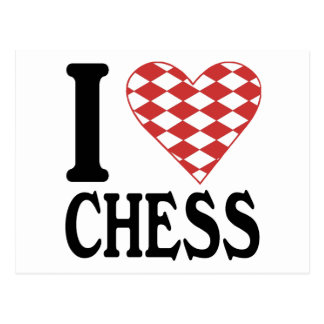 I Love Chess Postcard