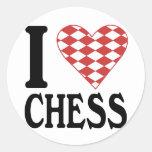 I Love Chess Sticker