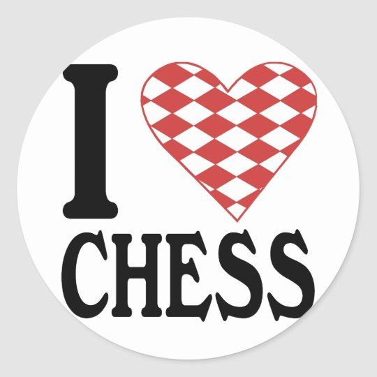 I Love Chess Sticker