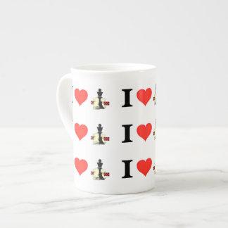I Love Chess Tea Cup