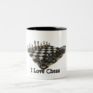 I Love Chess Two-Tone Coffee Mug