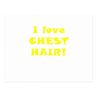 I Love Chest Hair Postcard