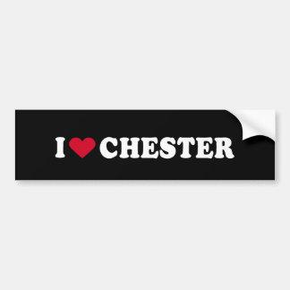 I LOVE CHESTER BUMPER STICKER