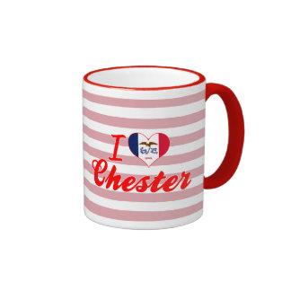 I Love Chester, Iowa Ringer Coffee Mug