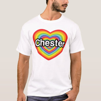 I love Chester: rainbow heart T-Shirt