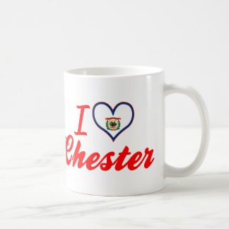 I Love Chester, West Virginia Classic White Coffee Mug