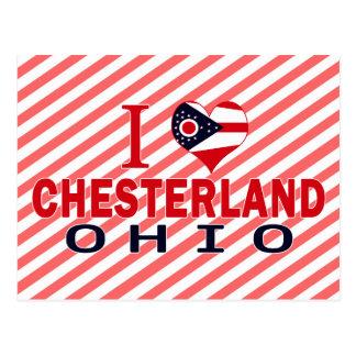 I love Chesterland, Ohio Postcard