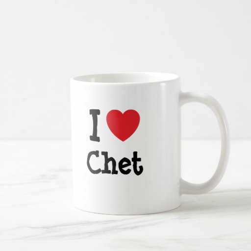 I love Chet heart custom personalized Mug