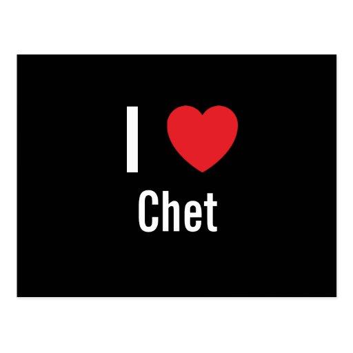 I love Chet Postcard