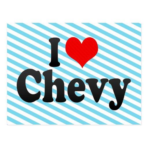 I love Chevy Postcards