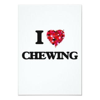 I love Chewing 3.5x5 Paper Invitation Card